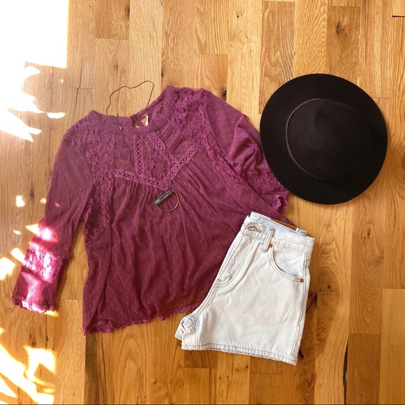 NWOT | Free People Lace Top
